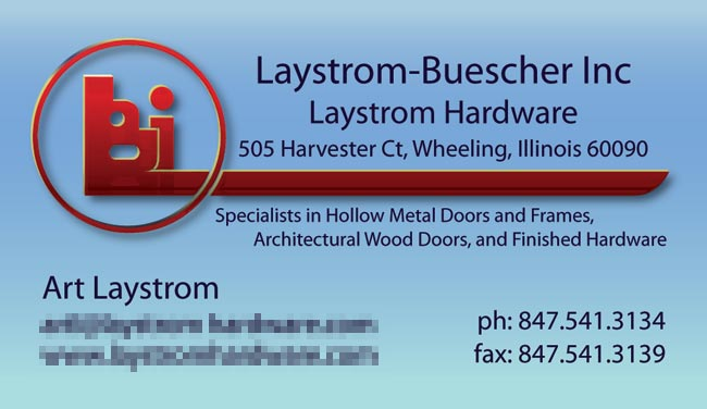 Laystrom Logo and Card